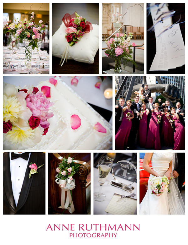Pink & Burgundy Wedding Detail Inspiration Board