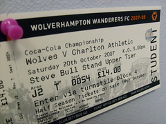 Wolves v Charlton (ingridesign) Tags: england sport football board ticket wanderers wolves wolverhampton