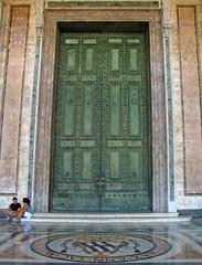 The Lateran Basilica's bronze doors (Lawrence OP) Tags: rome church bronze doors cathedral roman senate lateran archbasilica