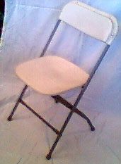 Folding Chair- Wedding White