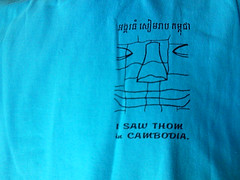 I Saw Thom in Cambodia (Poorfish) Tags: smile cambodia khmer tshirt iphone  t  khmersmile