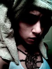 (a n g e l a .) Tags: selfportrait tattoo contrast bathroom towel rosemary supercult creepygirl angiepants