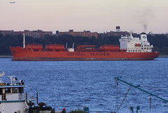 BOW PRIMA in New York, USA. Aug. 2006 (Tom Turner - SeaTeamImages / AirTeamImages) Tags: nyc red newyork port bay harbor marine ship harbour transport pony maritime bow transportation prima bigapple tanker chemical tomturner odfjell seachem bowprima odfjellseachem