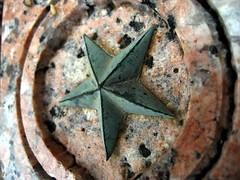 Star on a Bench Leg: Dec. 6, 2007 (SummerTX) Tags: bench star texas granite onlythebestare top20texas bestoftexas statepreservationboard samhoustonbuilding