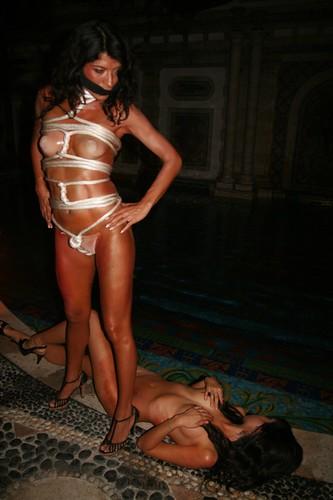 Naked girls outdoors