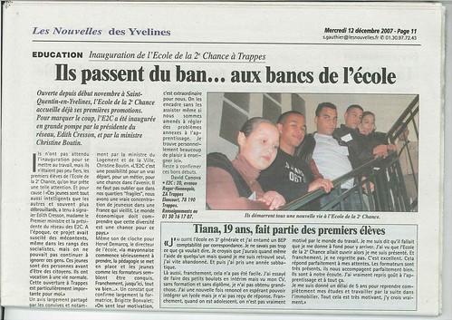 Inauguration - articles des Nouvelles de Versailles