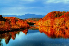 Autumns Spell ( D L Ennis) Tags: trees mountains fall colors clouds forest virginia northcarolina soe blueridgeparkway jamesriver supershot anawesomeshot dlennis diamondclassphotographer 111407 autumnsspell