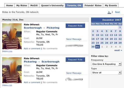 carpool facebook application