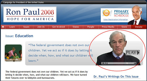 Ron Paul Presidential Campaign website