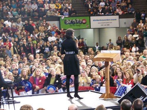 Obama and Oprah in Cedar Rapids