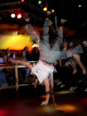 breakdancer2 (HYPERCONTEXTUALISM) Tags: art break dancing personal plymouth clubbing battle clubs hiphop voodoolounge beatbox battlestations gotbattle
