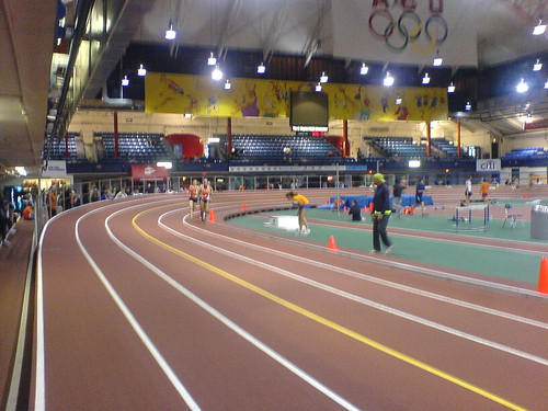 event last night at the Armory 200m indoor track in Washington Heights