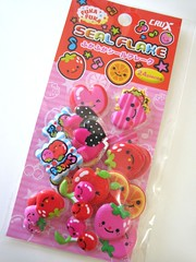 :: Fuka Fuka ::  Flake Stickers (Warm 'n Fuzzy) Tags: cute fruit stickers kawaii crux staitonery kawaiifruit