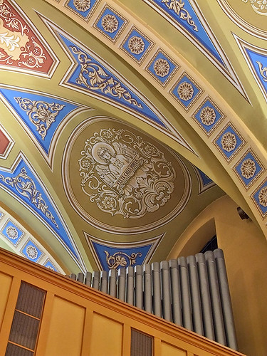 Saint Mary of the Barrens Roman Catholic Church, in Perryville, Missouri, USA - ceiling detail
