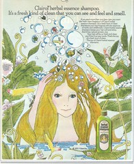 Clairol Herbal Essence Shampoo (twitchery) Tags: flowers vintage hair bath hippy shampoo 70s herbal vintageads clairol vintagebeauty