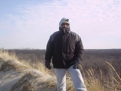 Larry, high and cold (dcheath8) Tags: statepark indiana lakemichigan indianadunes