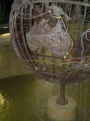 Captain Cook Water Feature (Jason-Bishop) Tags: lake water lights globe jets australia canberra griffin feature berley