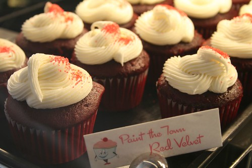 Paint the Town Red Velvet cupcakes