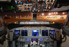 Delta Air Lines Boeing 737-832 (N3745B) **Cockpit** (Michael Davis Photography) Tags: airplane photography airport nashville aviation jet cockpit terminal boeing flightdeck b737 737800 boeing737 deltaairlines kbna boeingcockpit airportramp n3745b