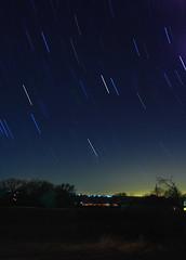 Startrail 2-2-08 (MBallard) Tags: lake night texas nightscape astrophotography astronomy ballard startrails cedarcreeklake gunbarrelcity