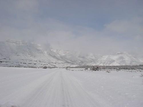 RV park snow