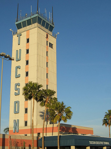 Tucson control tower upon arrival
