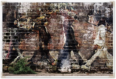 The Beatles On A Brickwall (Part II) (Glenn Meling) Tags: england rock liverpool photoshop manipulation beatles abbeyroad layers johnlennon carlsberg thebeatles paulmccartney georgeharrison ringostar blendedexposures eliteimages photoshopmasterpiece totalphotoshop