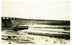 [IDAHO-A-0011] American Falls Dam (waterarchives) Tags: power dam idaho snakeriver irrigation realphotopostcardrppc minidokaproject bureauofreclamationbor americanfallsdam