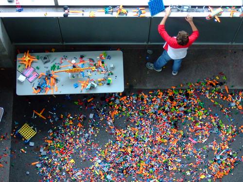 LEGO playpen at Austin Convention Center
