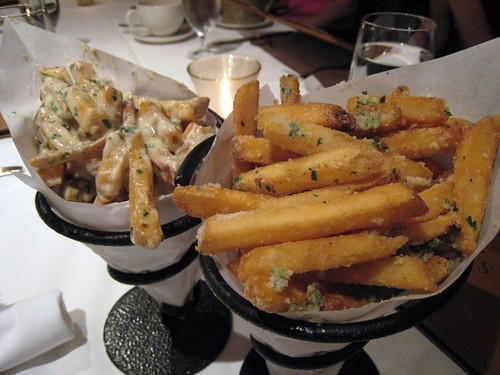 Blue cheese fries, parmesan fries, Sonsie