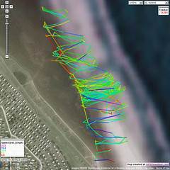 gps_run (Simeon Pashley) Tags: kite power gps buggy cleethorpes
