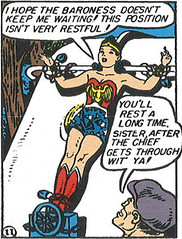 Wonder Woman Crucified for Milk