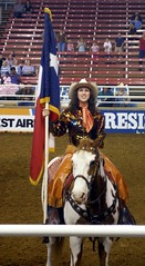 Texas Proud (JoWiJo) Tags: horse girl texas flag mesquite rodeo rider entry resistolarena gowgirls mesquitechampionshiprodeo top20texas