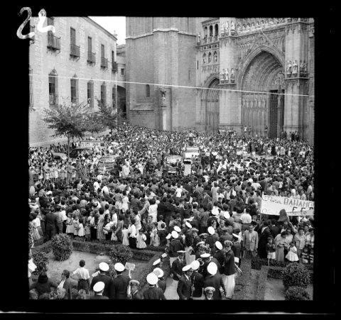 Recibimiento en 1959 a Bahamontes (Fotografía Rodríguez)