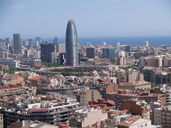 View of the Agbar Tower by Nouvel (wlnho) Tags: barcelona travel tower architecture gaudi nouvel agbar sagradadefamilia