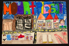 """Colors of Mount Pleasant"" (rockcreek) Tags: painting washingtondc dc nw drawing paintings mountpleasant drawings dcist 2008 hellersbakery mountpleasantstreet dcpl districtofcolumbiapubliclibrary mountpleasantlibrary mountpleasantneighborhoodlibrary friendsofthemountpleasantlibrary mountpleasantyouthartsfair argyleconveniencestore"