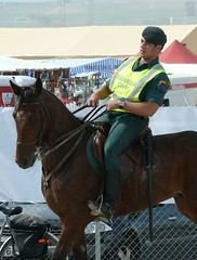 Escuadron Caballeria - Guardia Civil (Oscar in the middle) Tags: espaa army caballo spain police spanish cop mounted jinete officer policia montada
