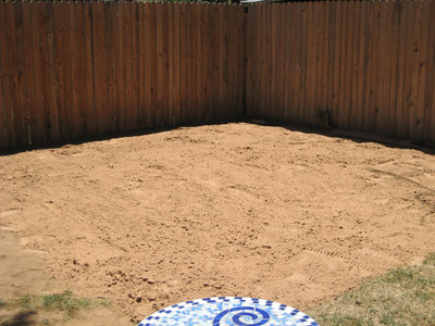 Sand Leveled For Swimming Pool Bottom