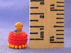 Quack (MUFFA Miniatures) Tags: cute miniature duck funny crochet amigurumi quack dollhouse yellowduck muffa cdhm