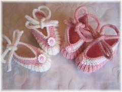 38+37-09 Baby Ballerinas Contrary (strickhasi48) Tags: baby knitting pattern free booties ballerinas
