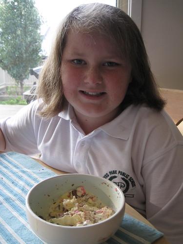 Amy with icecream sundae