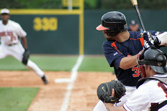 Concentration (Fred_T) Tags: canon rebel virginia baseball stadium helmet bat line pole glove catcher universityofvirginia uva base vt foul batter blacksburg virginiatech hokies cavaliers collegebaseball virginiapolytechnicinstituteandstateuniversity xti basepath mywinners englishfield francovaldes