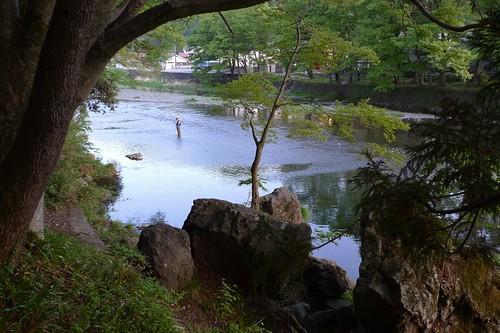 夕暮れの秋川。