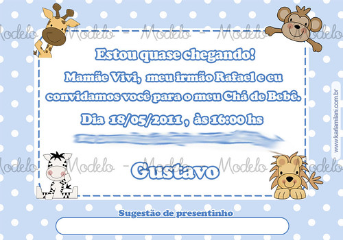 Convite Virtual Chá De Bebe Gustavo A Photo On Flickriver