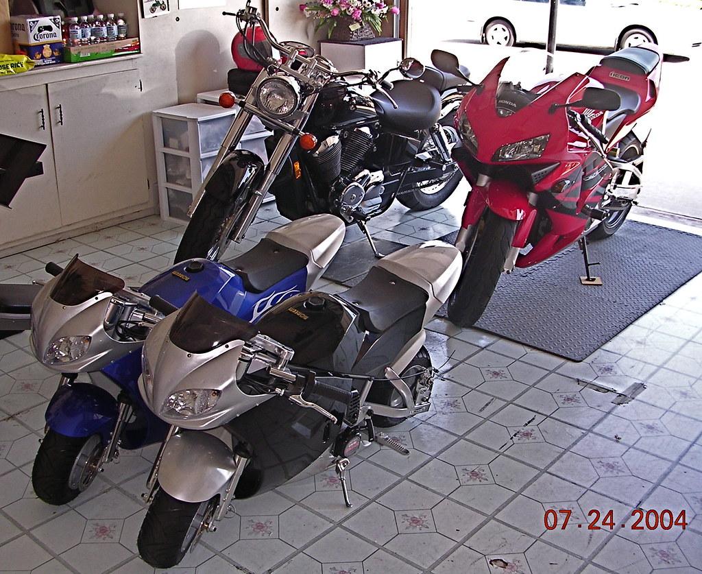 Garage full of bikes