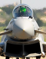RAF Typhoon Prepares for Takeoff from Italy on Libyan Mission (Defence Images) Tags: uk italy fighter aircraft military jet free equipment eurofighter british f2 hud libya touchdown defensive defense defence typhoon raf gioiadelcolle royalairforce headsupdisplay ellamy unifiedprotector iiisqn