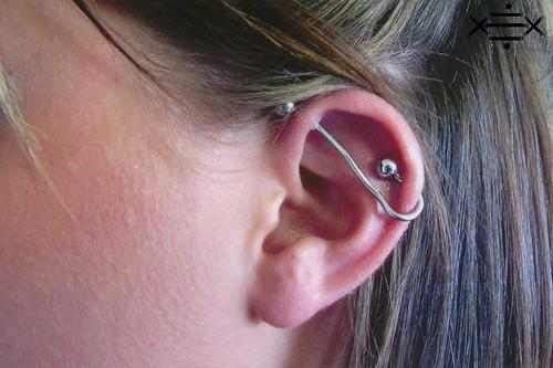 industrial piercing rings. 14g industrial piercing