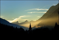 golden fog (olroux) Tags: sunset sky church landscape switzerland bravo suisse searchthebest atmosphere fribourg d200 paysage crpuscule polaris jaun romandie olroux diamondclassphotographer flickrdiamond