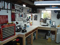 Brandon's tool board in the Man Cave 025 (Brandon448) Tags: bicycle workshop mancave parktool toolboard