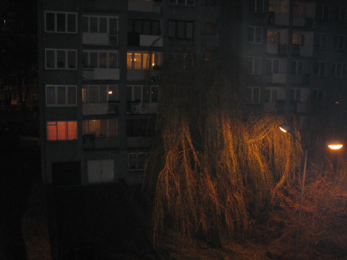 view from balcony in katowice
